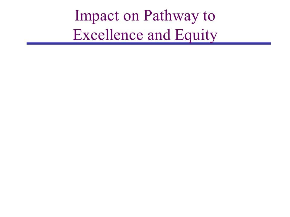 Impact on Pathway to Excellence and Equity