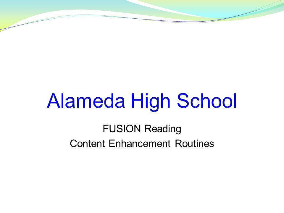 FUSION Reading Content Enhancement Routines