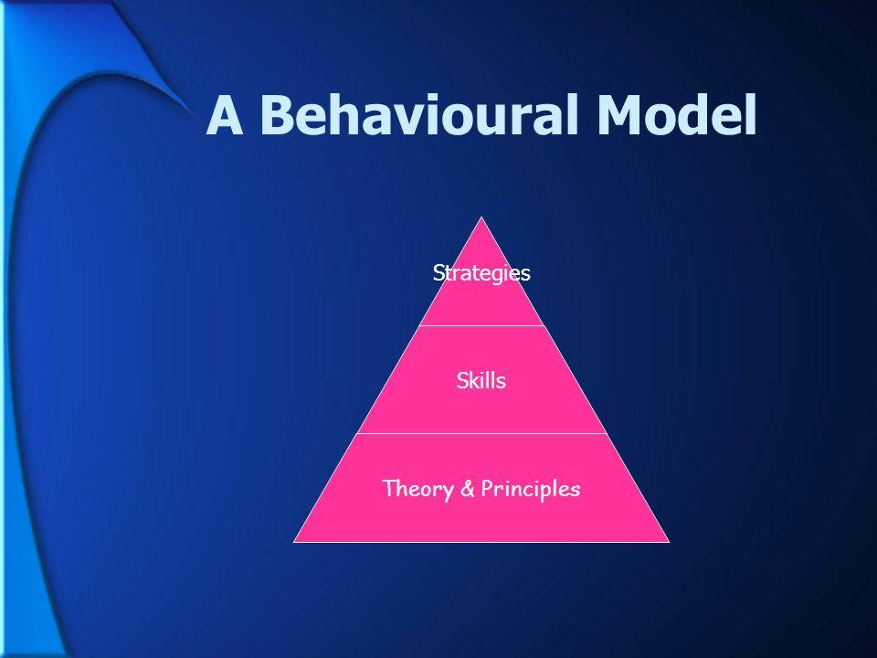 A Behavioural Model Strategies Skills Theory & Principles