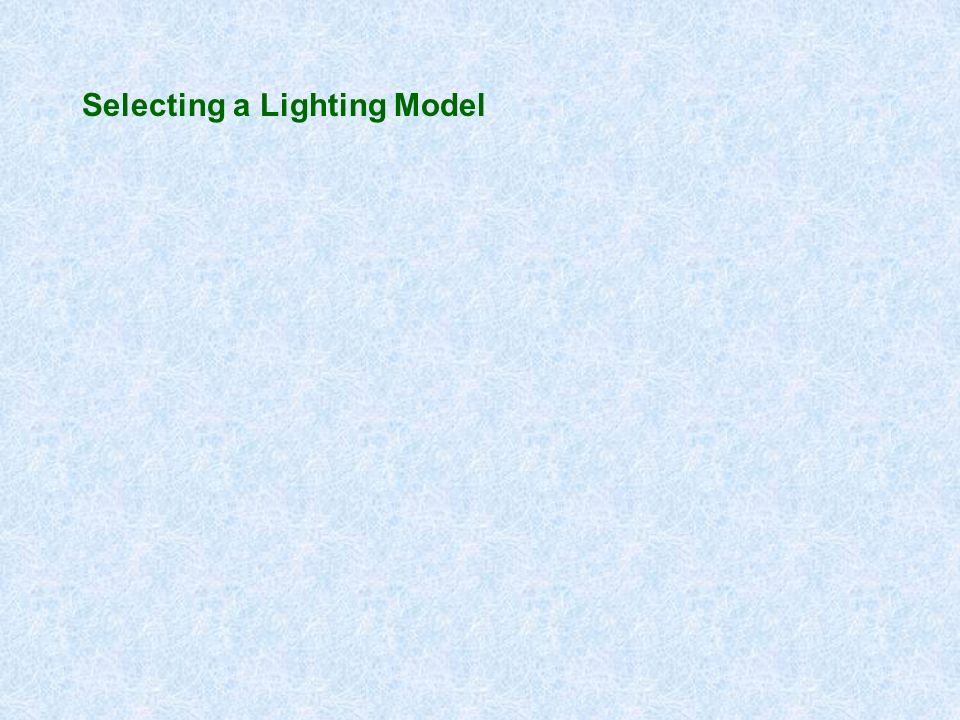 Selecting a Lighting Model