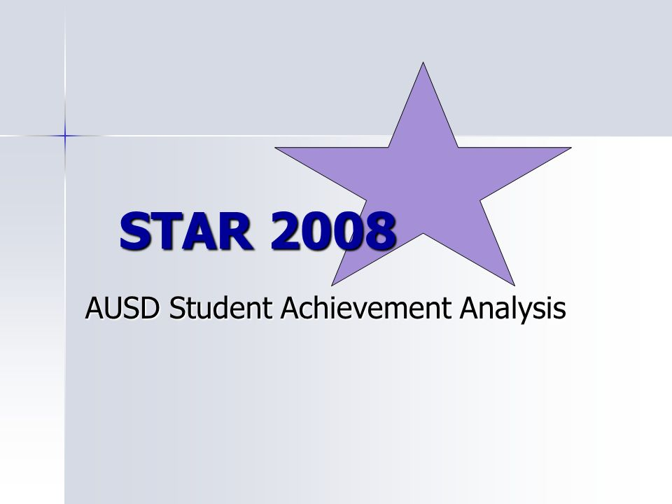 AUSD Student Achievement Analysis STAR 2008