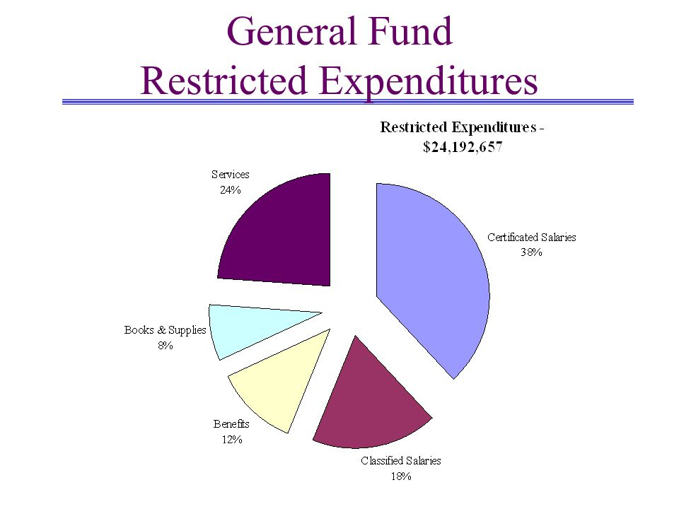 General Fund Restricted Expenditures