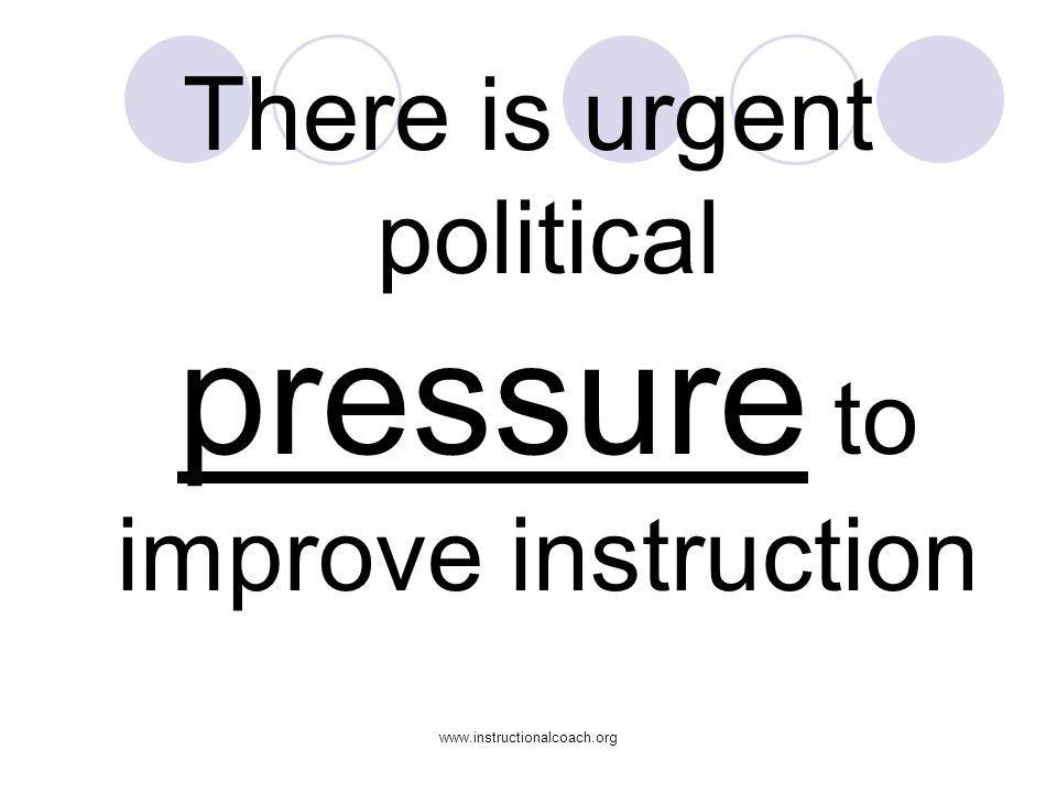 www.instructionalcoach.org There is urgent political pressure to improve instruction