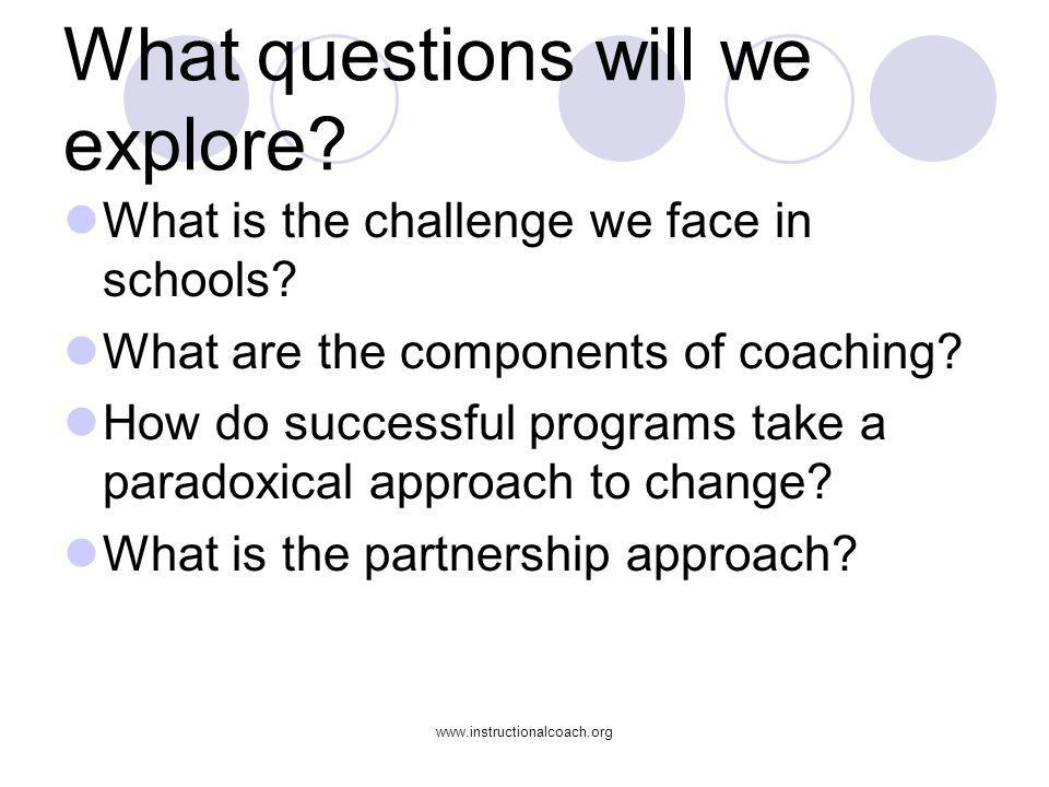www.instructionalcoach.org How do Instructional Coaches build coherence.