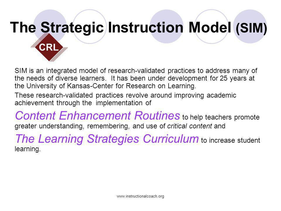 www.instructionalcoach.org Instructional Coaching Enroll Identify Explain Model (You watch me) Observe (I watch you) Explore (Collaborative Exploration of Data) Support Reflect