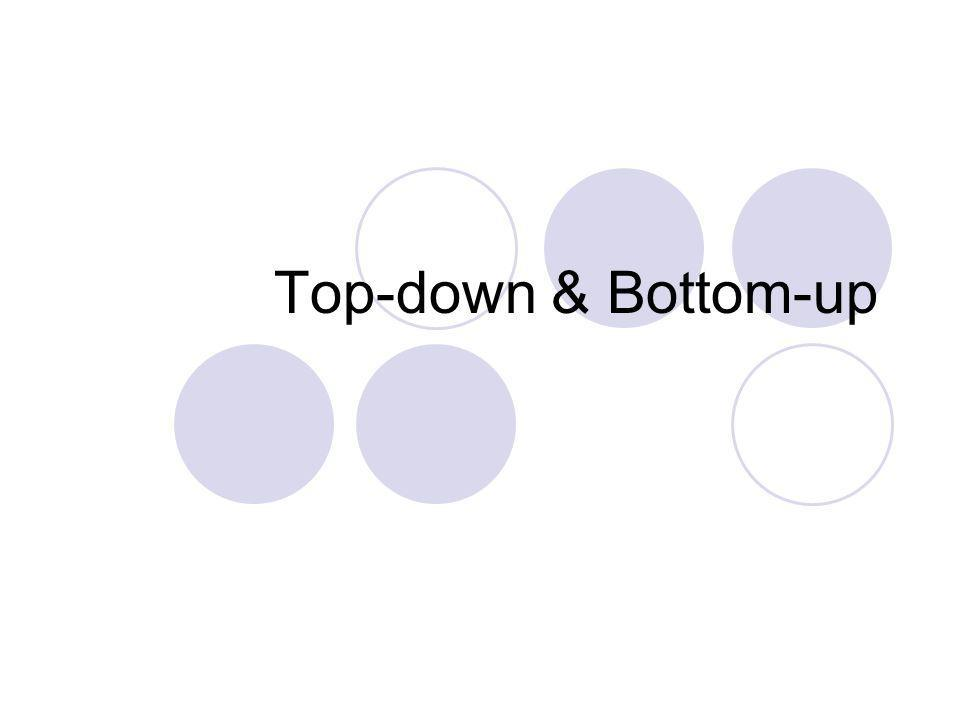 Top-down & Bottom-up
