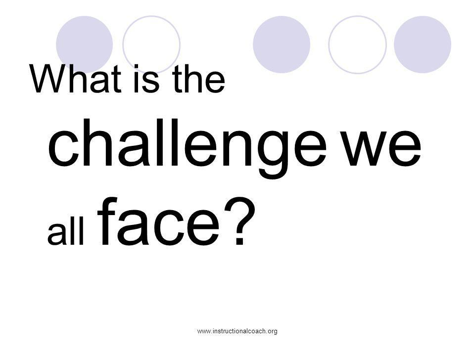 www.instructionalcoach.org What are the barriers to change you are experiencing in your school(s)?