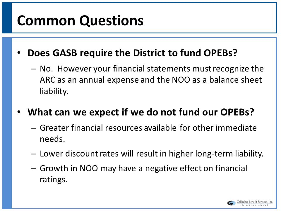 Common Questions Can we reduce our current OPEB costs.
