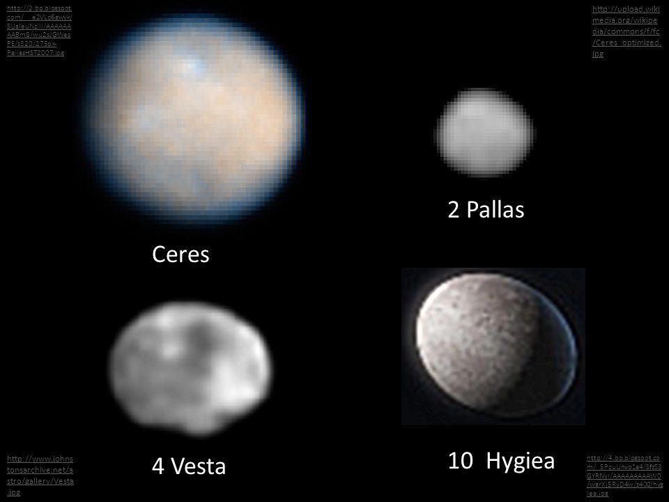 Ceres 2 Pallas http://2.bp.blogspot. com/__e2VLp6gwyk/ SUaIeuNzilI/AAAAAA AABm8/wu2sJGWes PE/s320/275px- PallasHST2007.jpg http://upload.wiki media.or