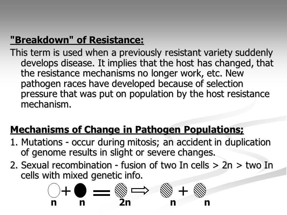 Mechanisms of Change in Pathogen Populations cont.