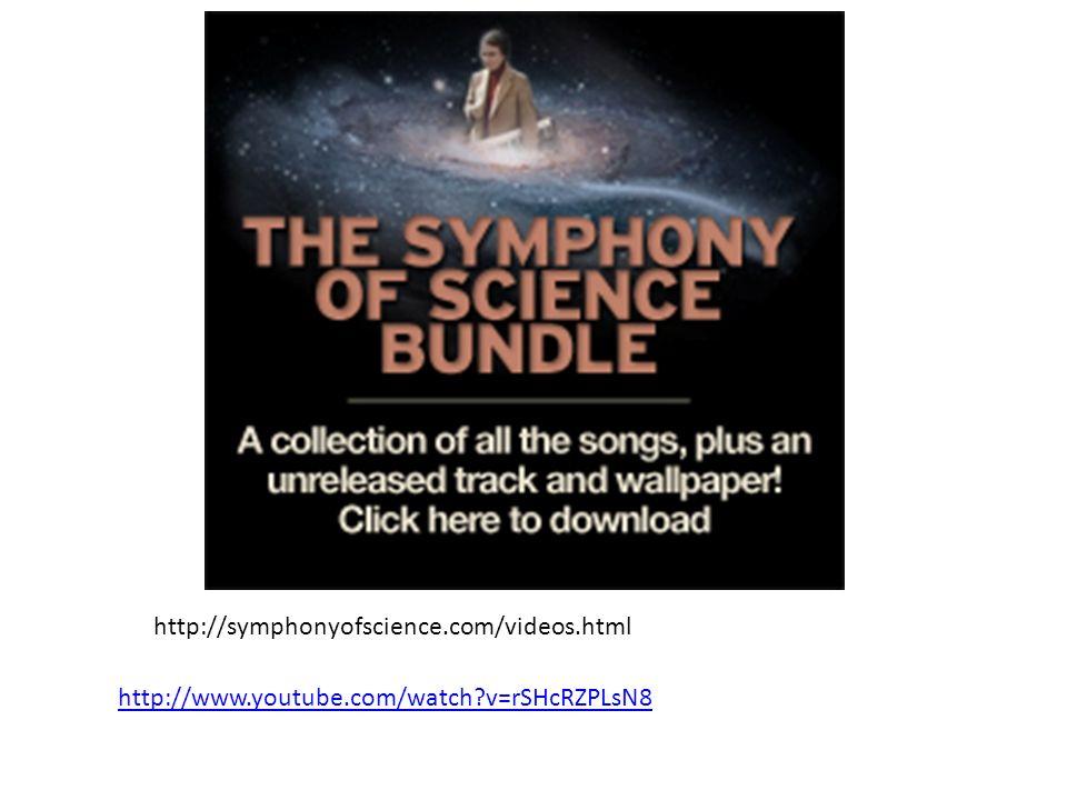 http://symphonyofscience.com/videos.html http://www.youtube.com/watch?v=rSHcRZPLsN8