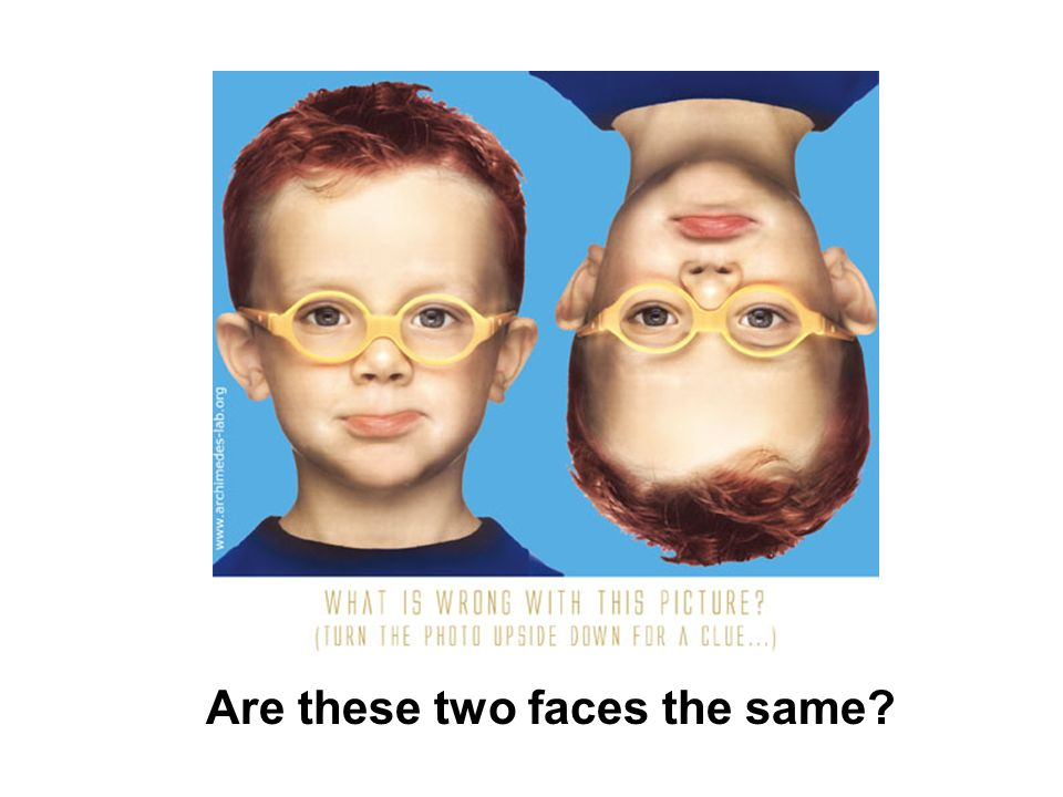 Are these two faces the same?