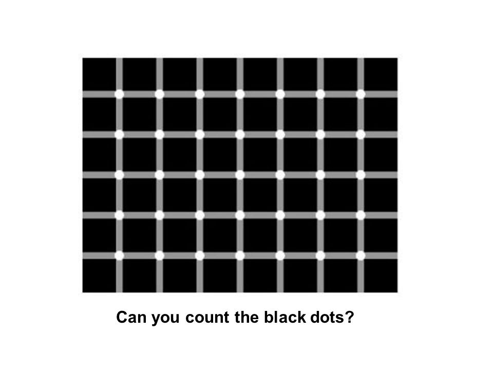 Can you count the black dots