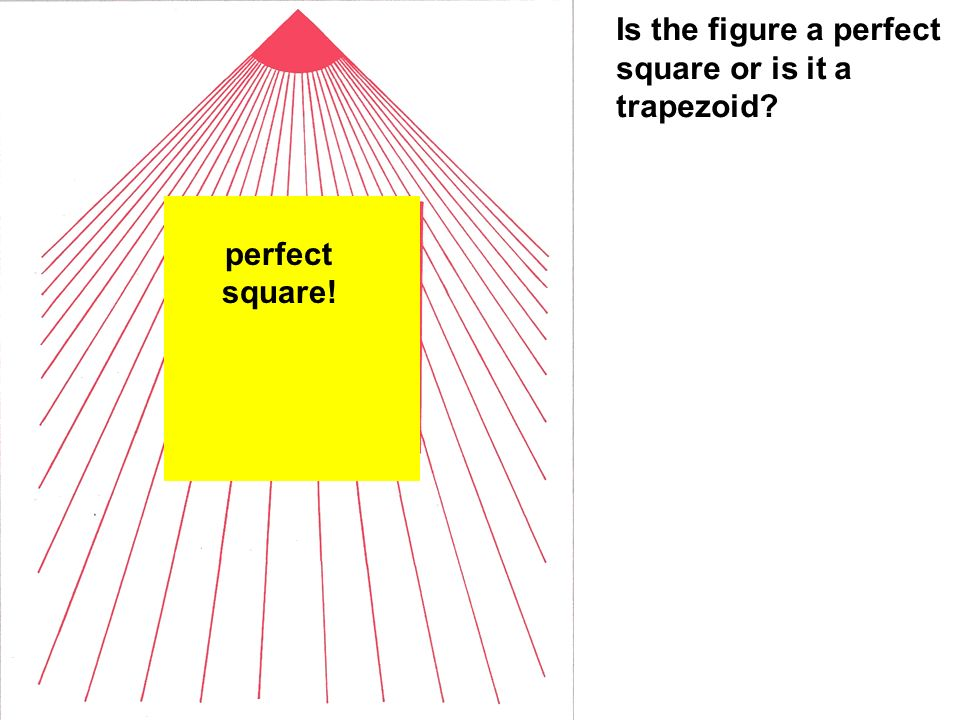 perfect square! Is the figure a perfect square or is it a trapezoid
