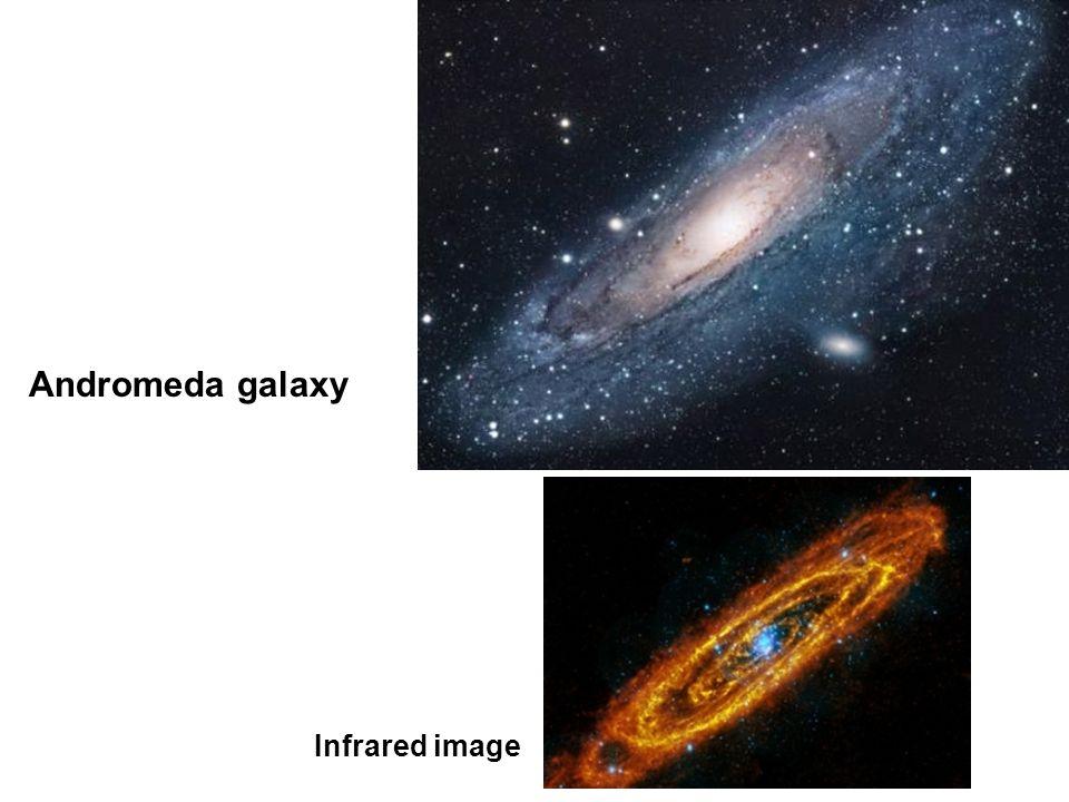 Andromeda galaxy Infrared image