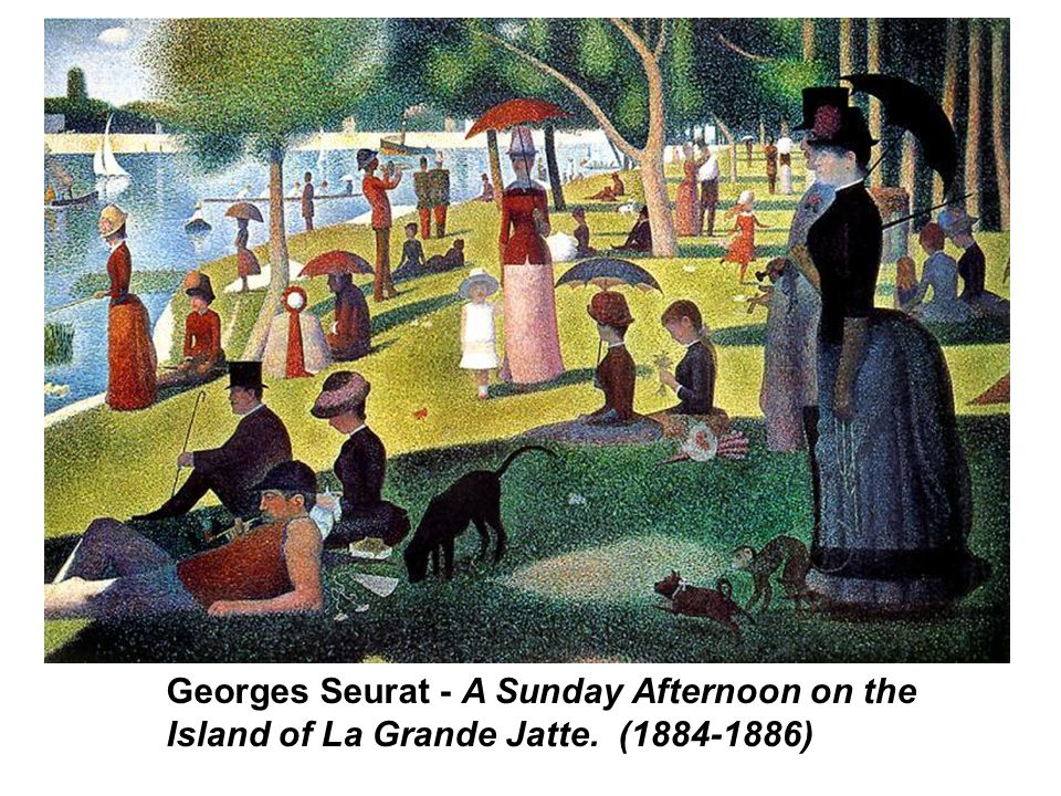 Georges Seurat - A Sunday Afternoon on the Island of La Grande Jatte. (1884-1886)