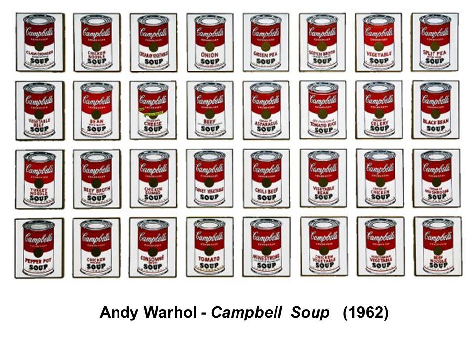 Andy Warhol - Campbell Soup (1962)
