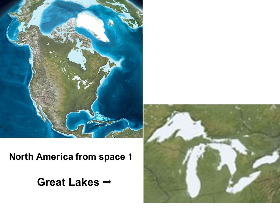 North America from space Great Lakes