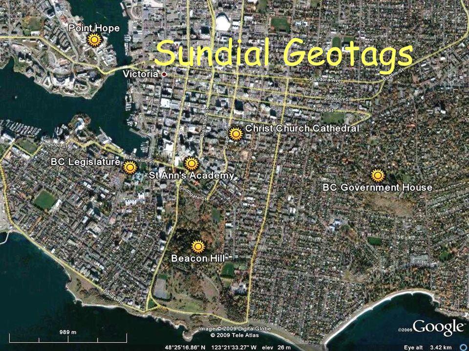 Sundial Geotags
