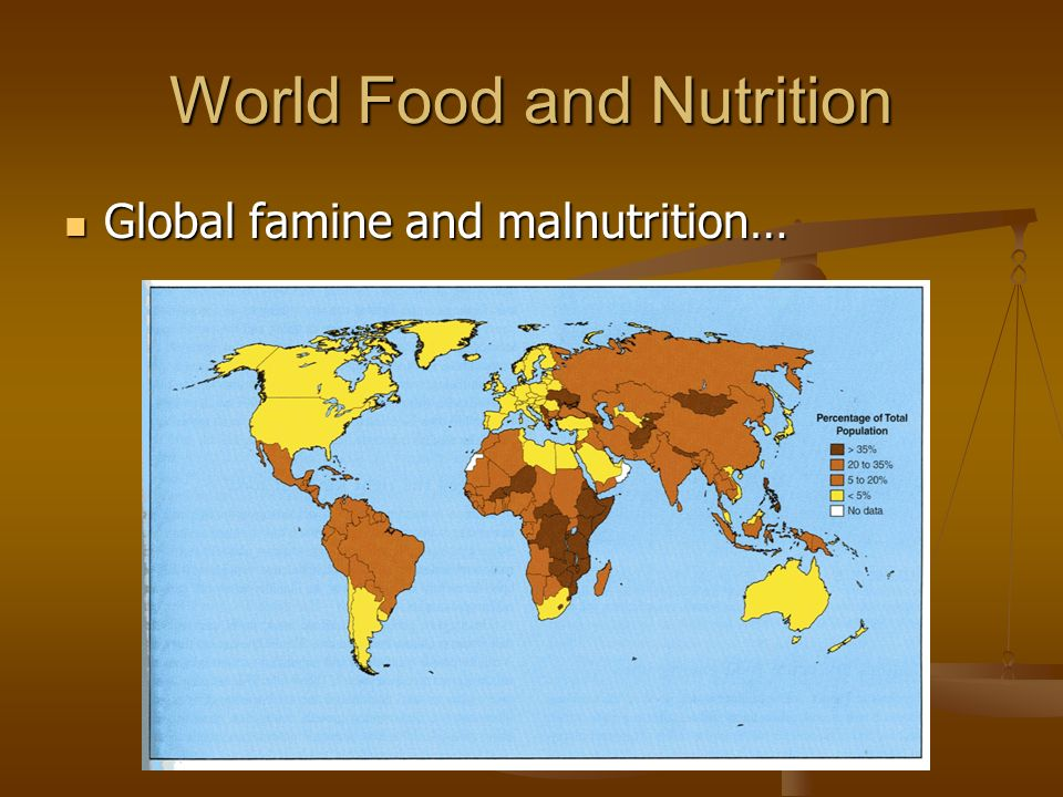World Food and Nutrition Global famine and malnutrition… Global famine and malnutrition…