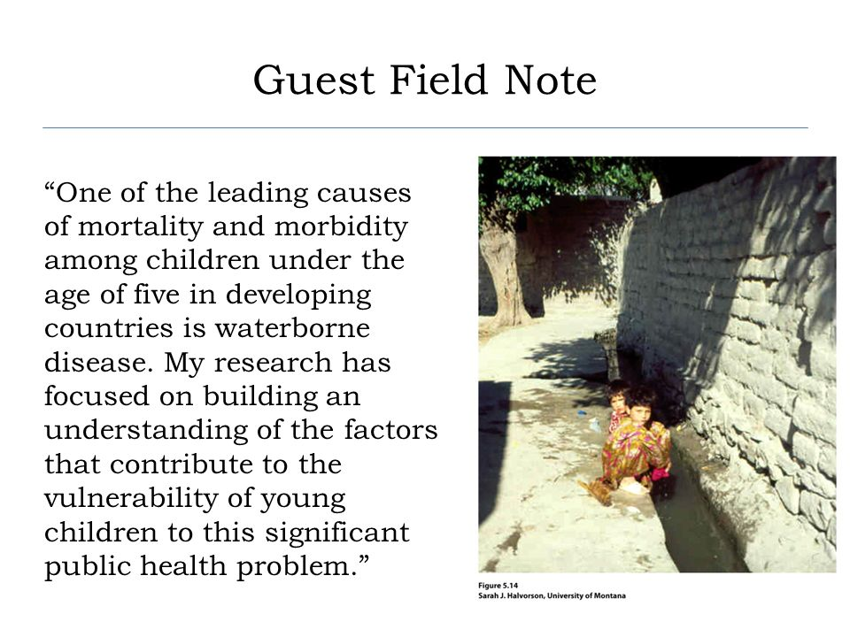 Concept Caching: Mount Vesuvius Guest Field Note One of the leading causes of mortality and morbidity among children under the age of five in developi