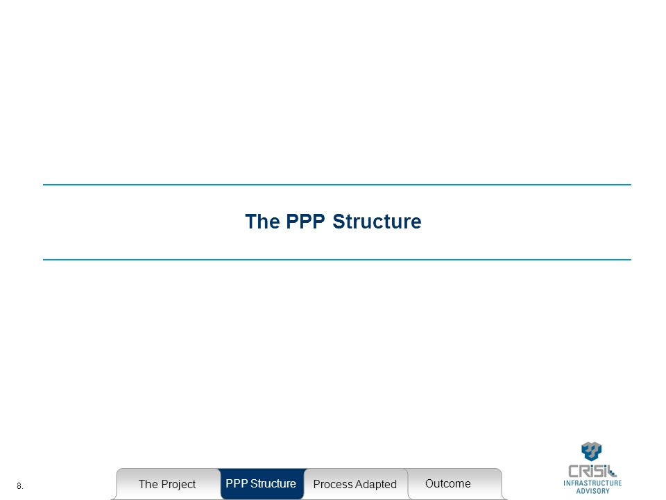 8. The PPP Structure The Project PPP StructureOutcome Process Adapted