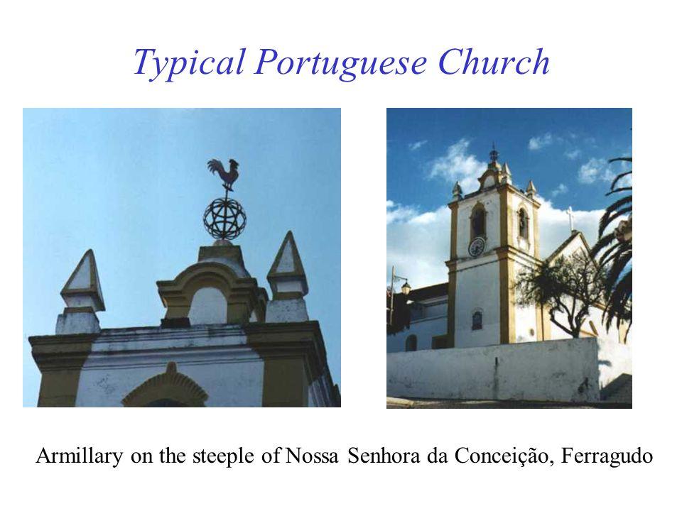 Typical Portuguese Church Armillary on the steeple of Nossa Senhora da Conceição, Ferragudo