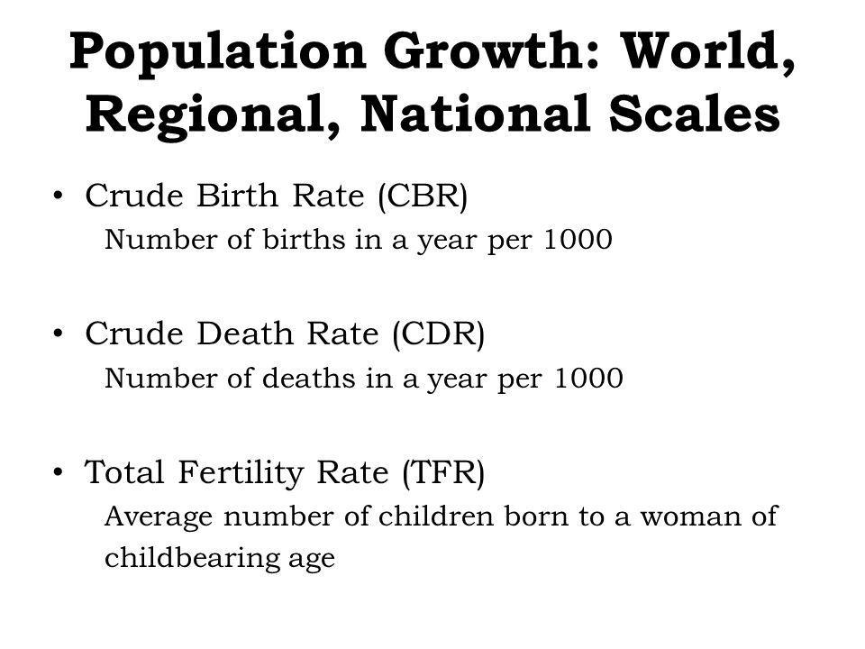 Future Population Growth Stationary Population Level (SPL) – – The level at which a national population ceases to grow – Anticipated dates for population stabilization are often moved back Ex.