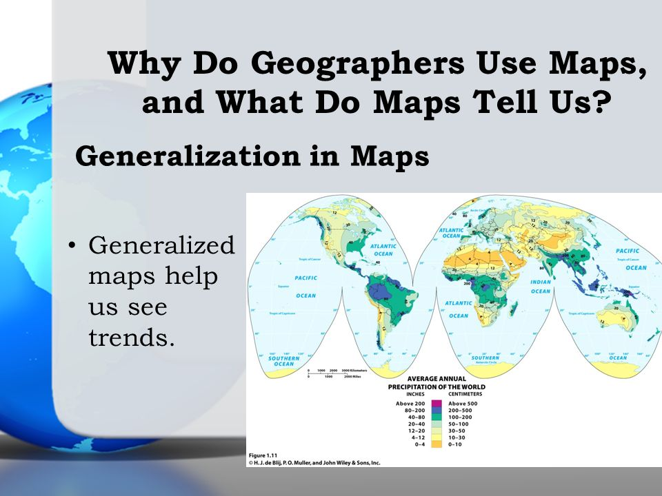 Generalized maps help us see trends. Generalization in Maps