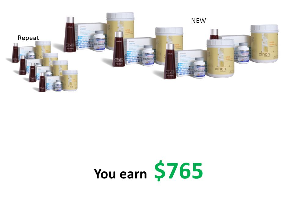 You earn $765 Repeat NEW