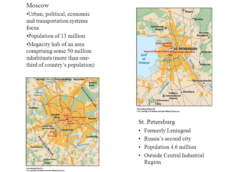 Moscow Urban, political, economic and transportation systems focus Population of 13 million Megacity hub of an area comprising some 50 million inhabit