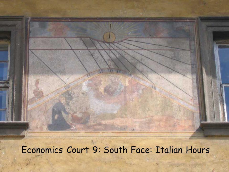 EC10 S Italian Economics Court 9: South Face: Italian Hours