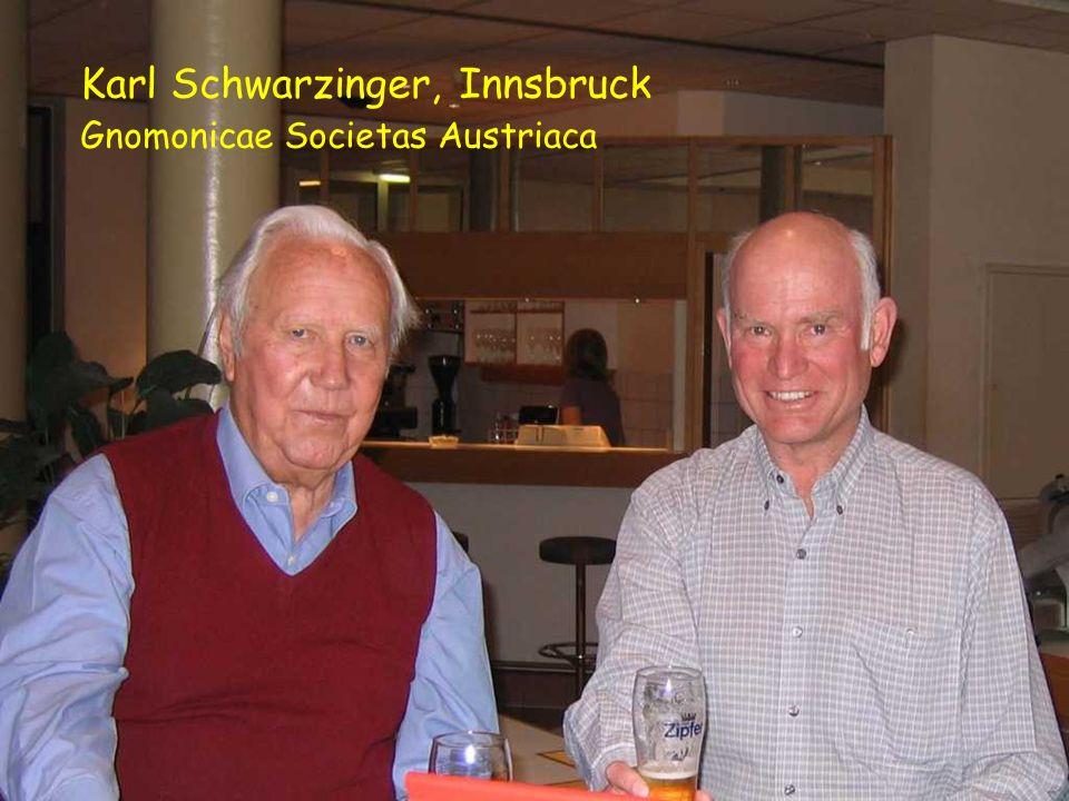 Karl Schwarzinger, Innsbruck Gnomonicae Societas Austriaca