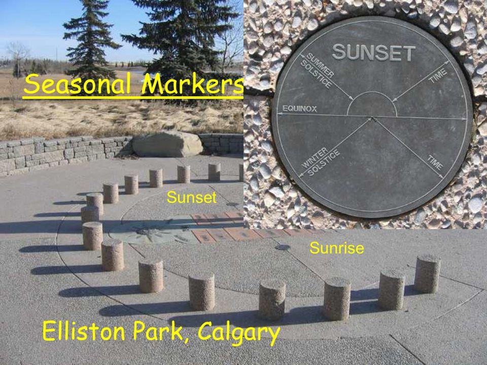 Seasonal Markers Elliston Park, Calgary Sunrise Sunset