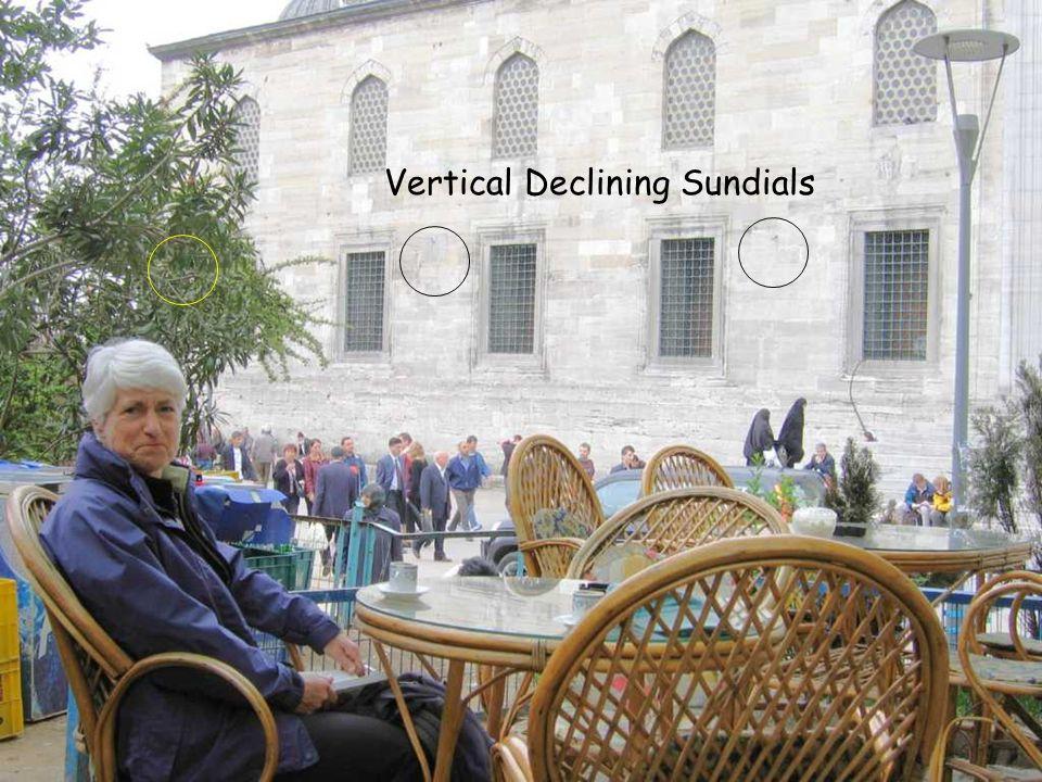 Vertical Declining Sundials