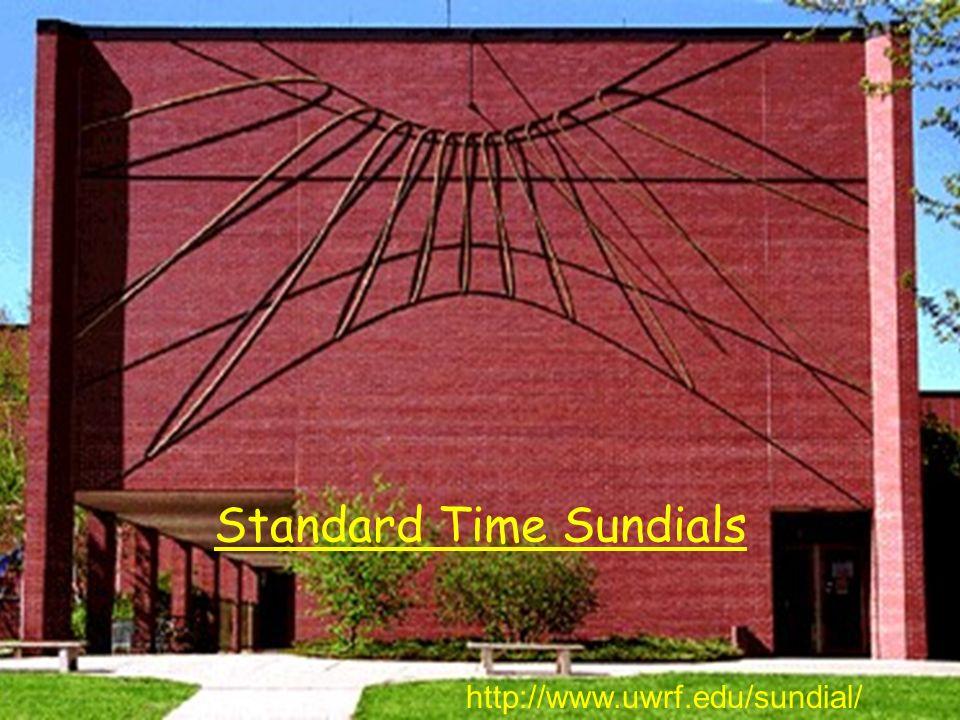 Standard Time Sundials http://www.uwrf.edu/sundial/