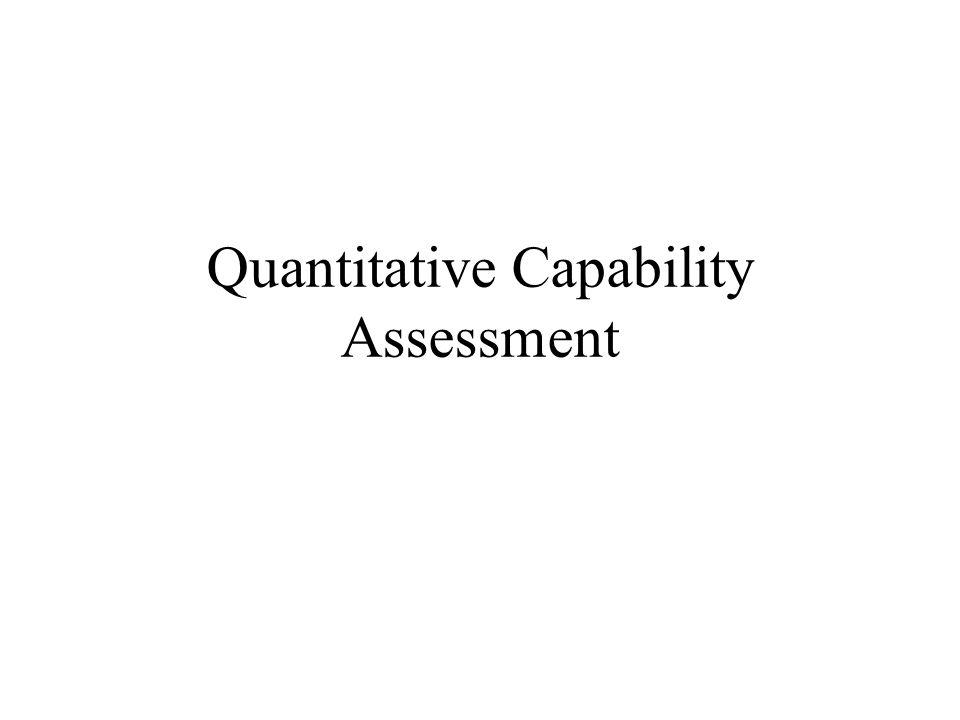 Quantitative Capability Assessment