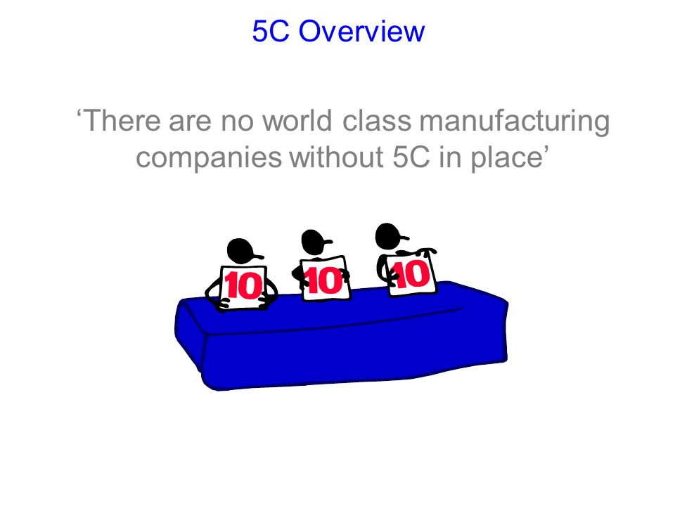5C is a systematic approach to workplace organisation and housekeeping.