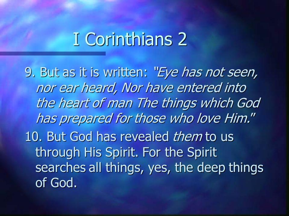 I Corinthians 2 9.