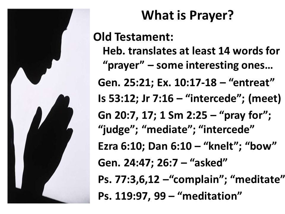 What is Prayer. Old Testament: Heb.