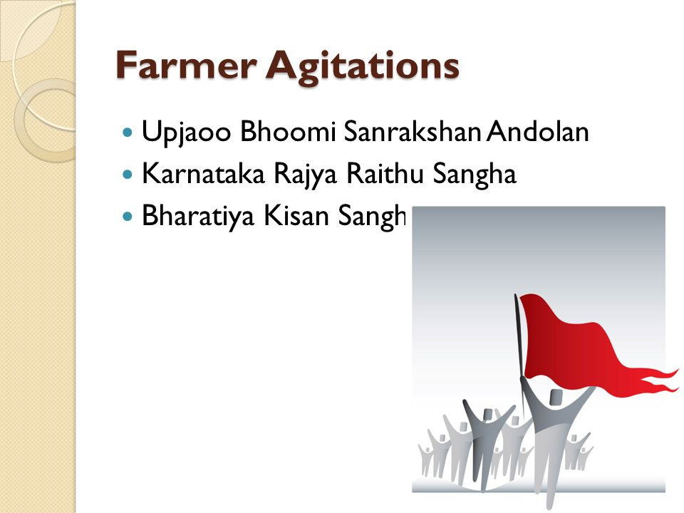 Farmer Agitations Upjaoo Bhoomi Sanrakshan Andolan Karnataka Rajya Raithu Sangha Bharatiya Kisan Sangh