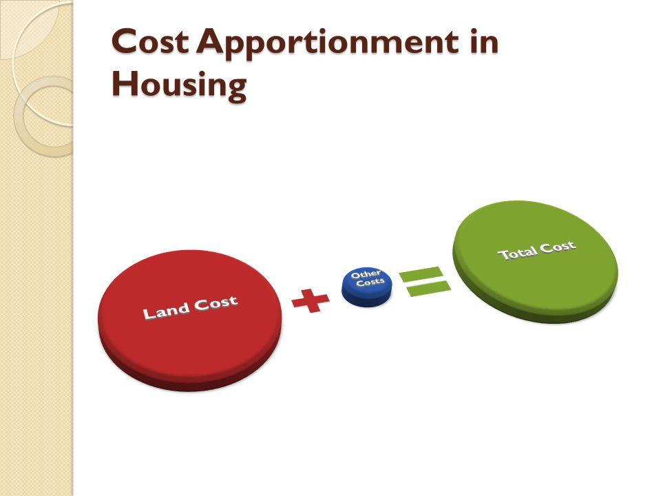 Cost Apportionment in Housing