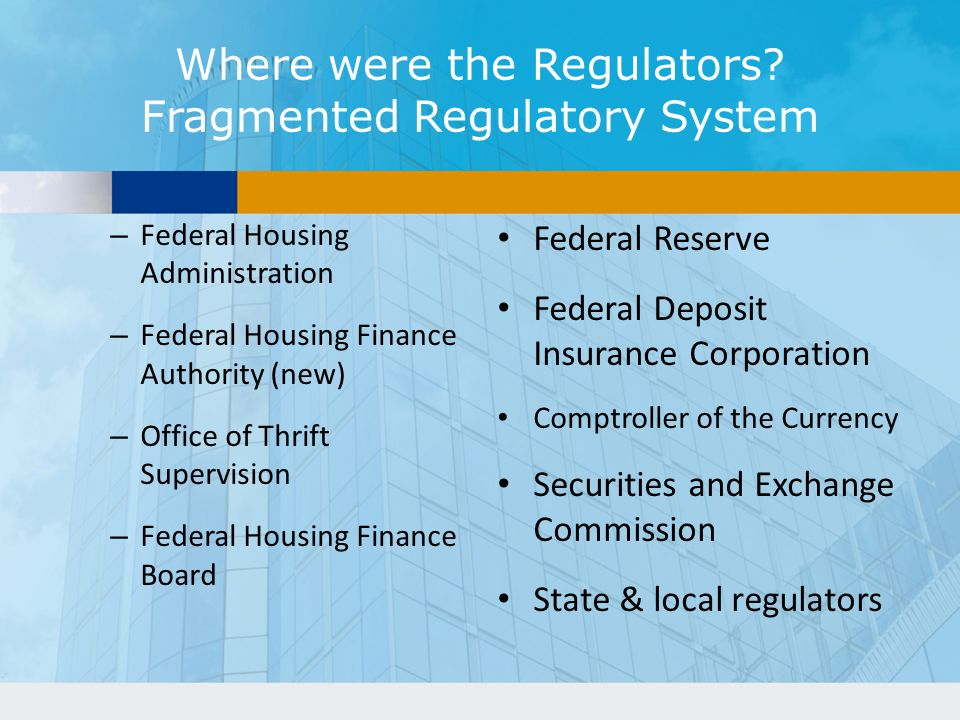 Where were the Regulators.