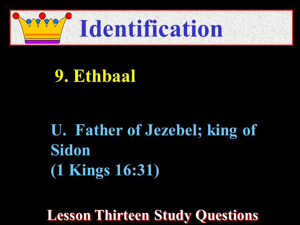 Lesson Thirteen Study Questions Identification U.