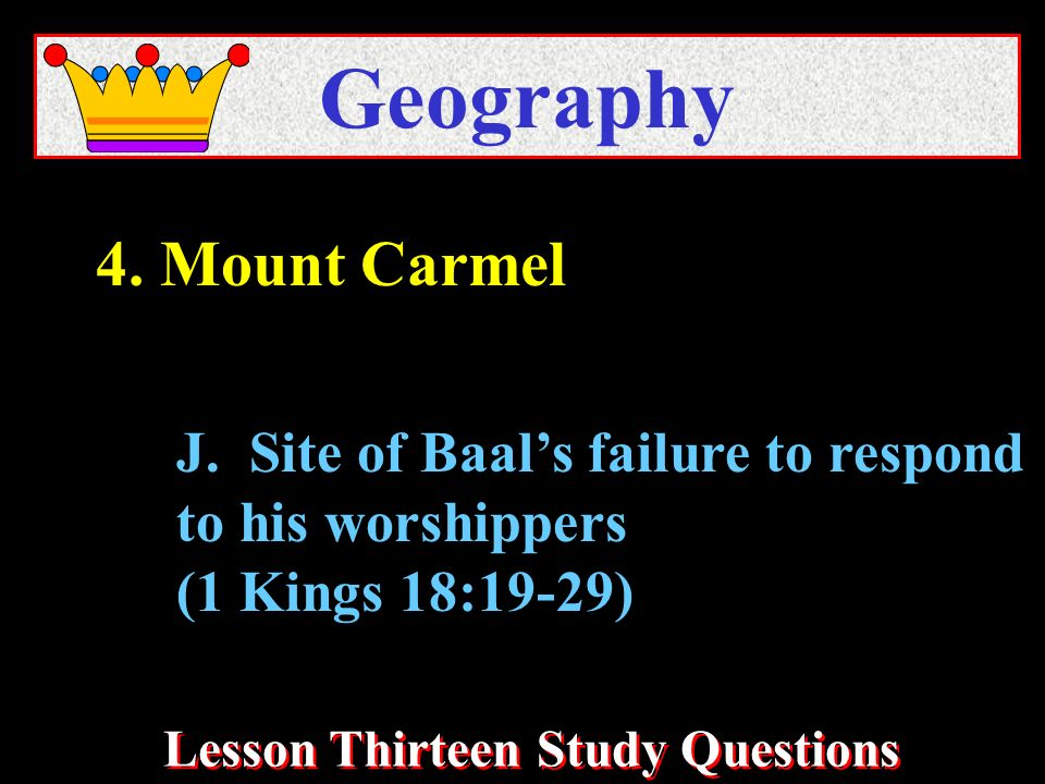 Lesson Thirteen Study Questions Geography J.