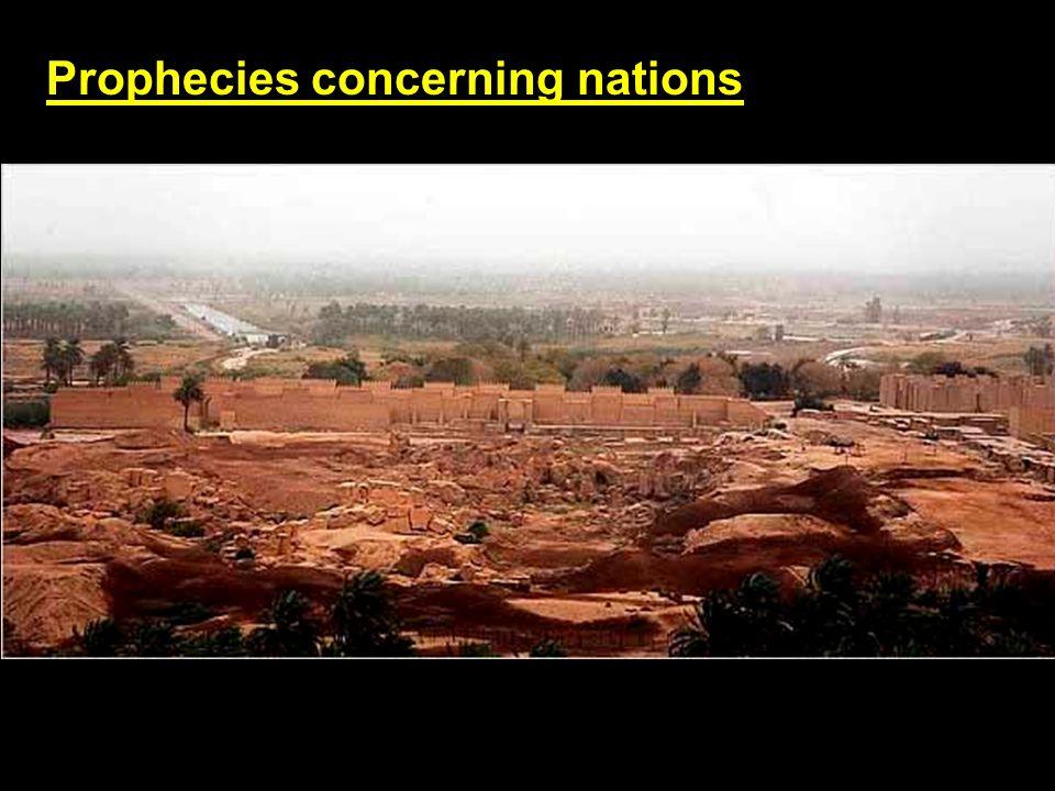 Prophecies concerning nations