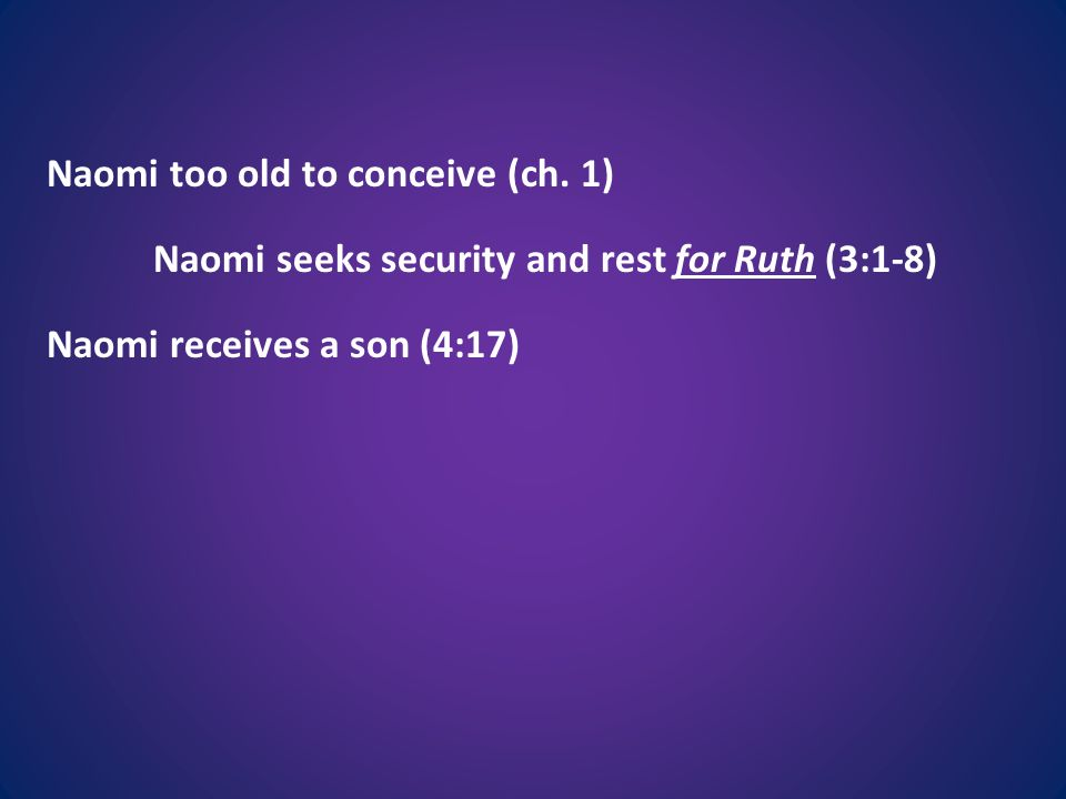 Naomi too old to conceive (ch.