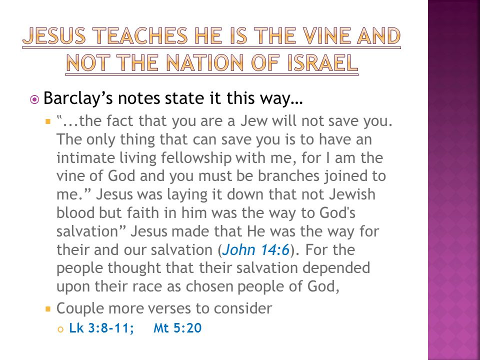 Barclays notes state it this way…...the fact that you are a Jew will not save you.