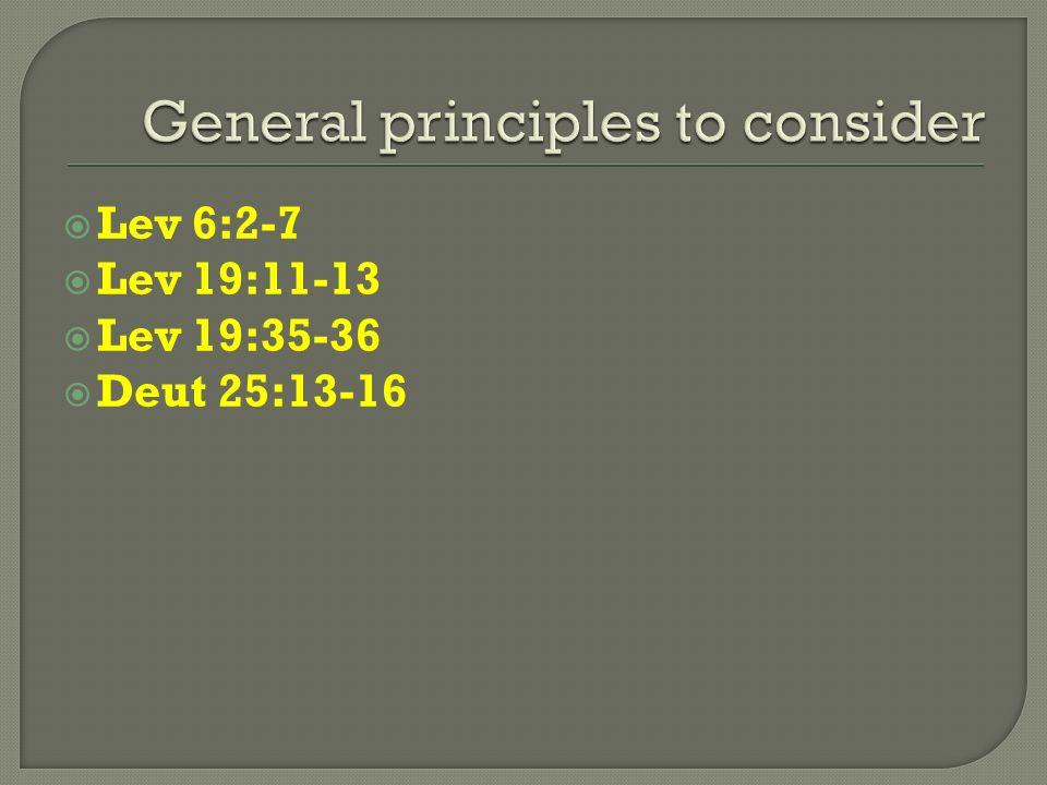 Lev 6:2-7 Lev 19:11-13 Lev 19:35-36 Deut 25:13-16