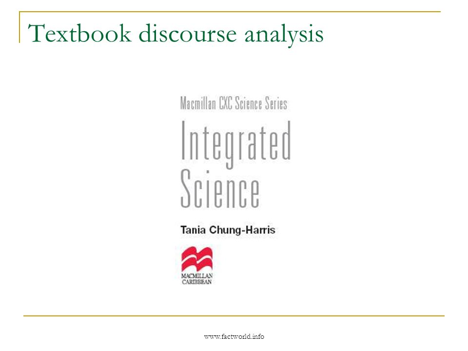 www.factworld.info Textbook discourse analysis